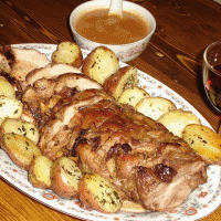 Roasted pork with prunes