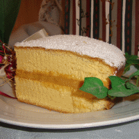 Sponge cake with condensed milk